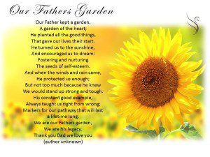 Funeral Poem Our Fathers Garden