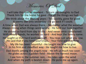 Funeral Poem Memories