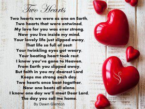 Funeral Poem Two Hearts