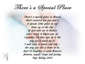 Funeral Poem Special Place