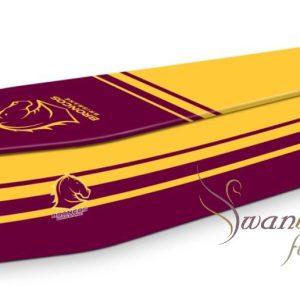 Brisbane Broncos Coffin