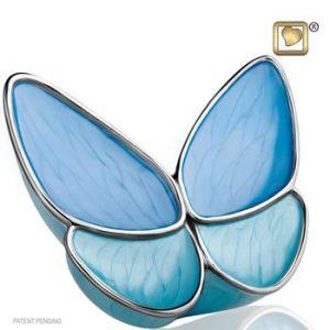 Wings of Hope Blue Keepsake Urn