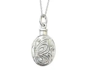 Oval Butterfly Ash Pendant
