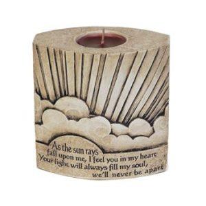 Sun Rays Memorial Candle Urn
