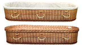 Wicker Cradle Casket