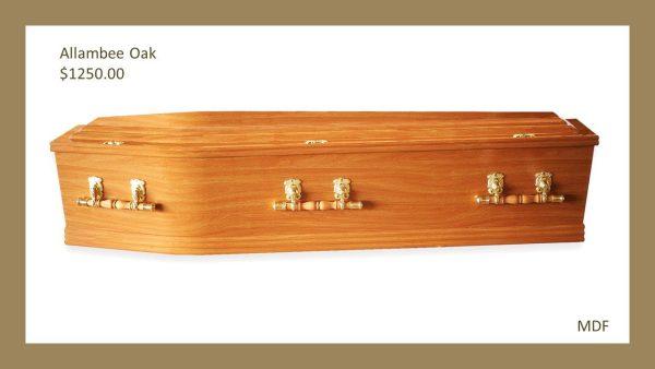 Allambee Golden Oak Coffin