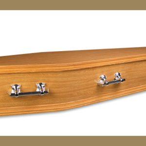 Allora Golden Oak Coffin