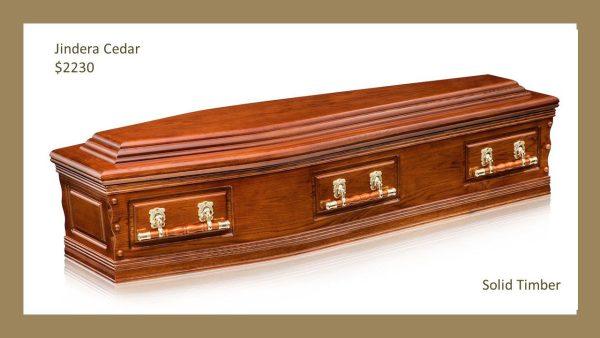 Jindera Solid Cedar Coffin