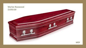 Marlee Rosewood coffin