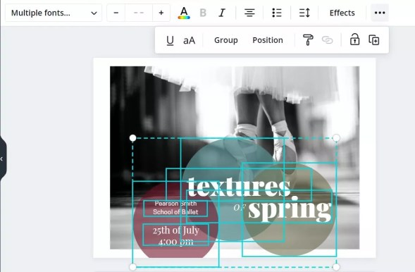Group elements in Canva
