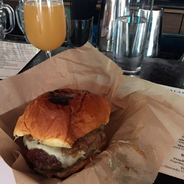 Threes Brewing Outpost Purslane Burger