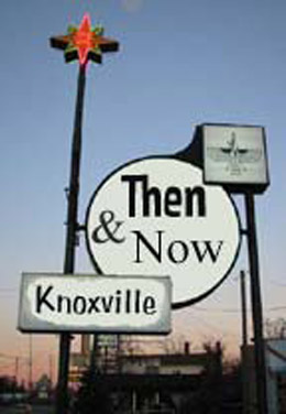 Knoxville Then & Now Urban Archeology in Knoxville, TN. I take vintage postcards of diners and motels and find what exists of those locations today. Sometimes the entire building is there, others there is nothing, and many have a tantalizing remnant of their former glory.