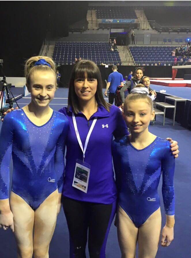 Holly Jones / Adrienne Emmanuel with coach Natalie Lucitt