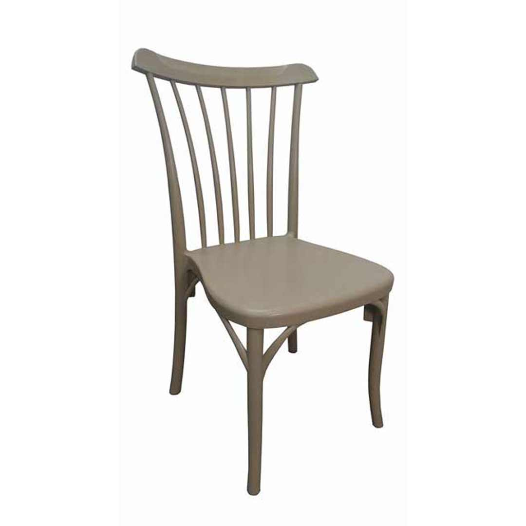 Gozo Outdoor Stackable Dining Chair Coffee