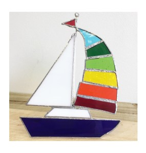 colourful spinnaker