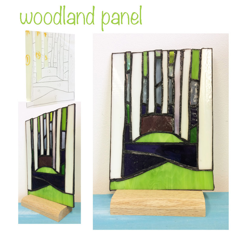 glass woodland scene