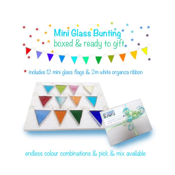 mini glass rainbow bunting
