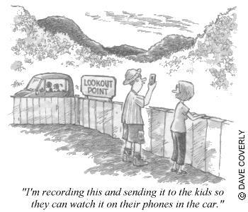 Cartoon: texting kids