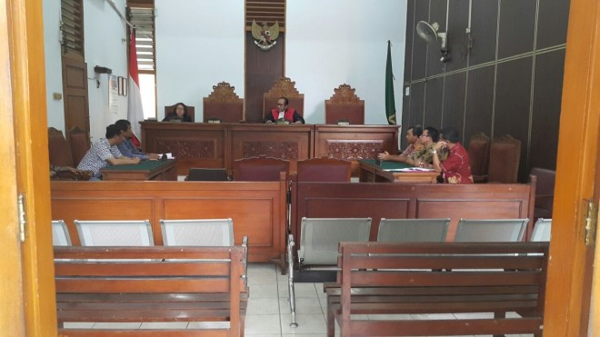 Suasana Praperaadilan MAKI lawan Jaksa Agung Dalam Kasus Korupsi Cesie Bank Bali