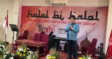 Gelar Halal Bi Halal, IKAFH Undip Mantapkan Posisinya Sebagai Elemen Keempat Civitas Akademik