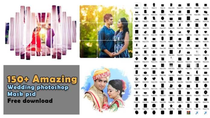 150+ Amazing wedding photoshop mask free download psd