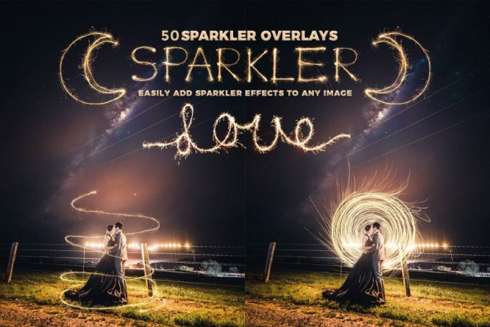50+ Sparkler Collection Overlay Effect Free Download