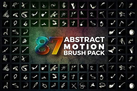 87 Abstract Motion Brush Pack Photoshop Free Download
