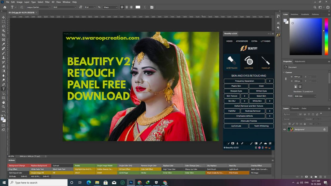 Beautify v2 retouch panel free download