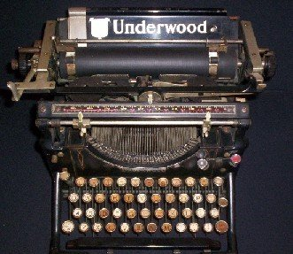 Auden's typewriter during his Swarthmore years (1942-1945).