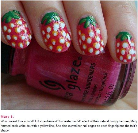 Swatchandlearn On Beautylish Strawberry Nails Nail Art