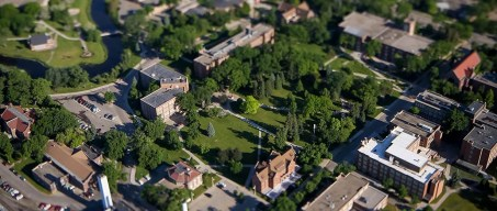 campus, aerial, summer, 2013, trees, overhead, birds eye view