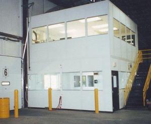 Mezzanine-Level Modular Offices