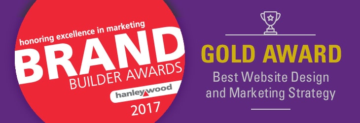 Hanley Wood Brand Builder Gold Award - Best Website Design and Marketing Strategy