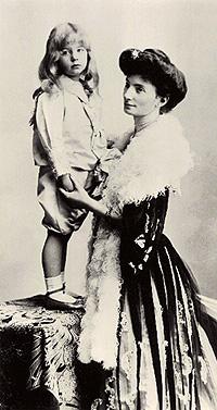 Blanche Bonde och sonen Thord Bonde