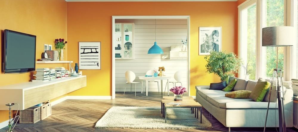 Swedish Interior Design Style in Nine Words   Swedish Freak Orange Scandinavian Living Room Design