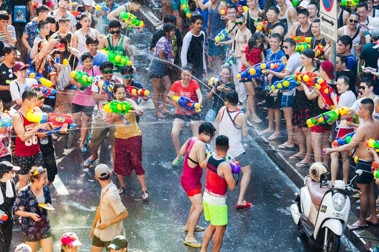 songkran - fun things to do in Thailand