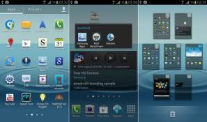 Samsung Galaxy S III home screen