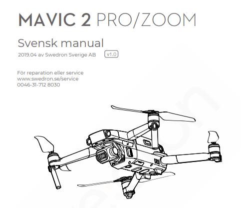 Mavic 2 Pro & Mavic 2 Zoom svensk manual