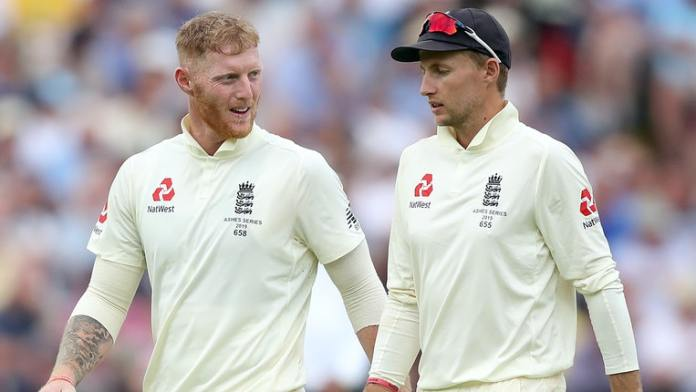 Ben Stokes and Joe Root in test