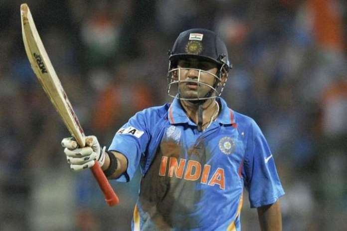 Gautam Gambhir in 2011 World Cup final against Sri Lanka