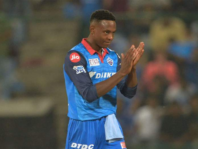 Kagiso Rabada playing for Delhi Capitals in IPL