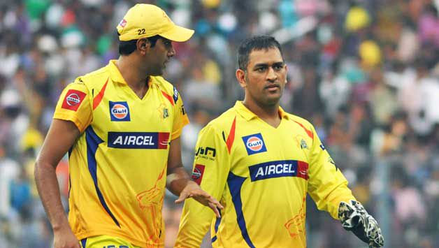 Ravichandran Ashwin and MS Dhoni IPL CSK, Ashwin in Champions League 2010