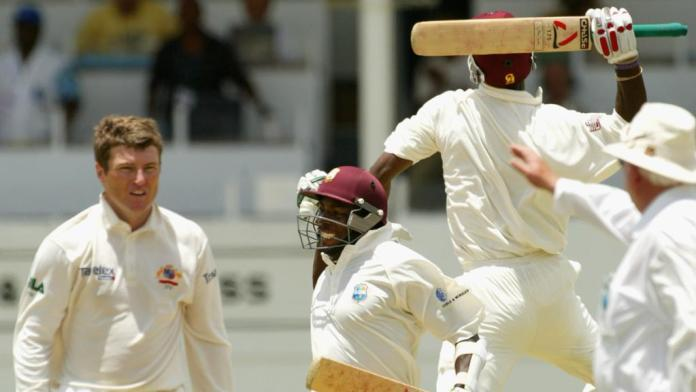 West Indies chase down 418 against Australia in Antigua in 2003