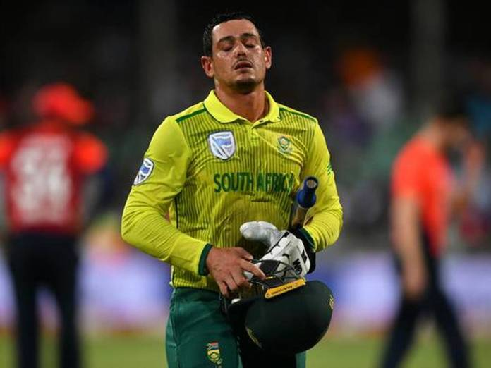 Quinton De Kock in england vs south africa t20i series 2020