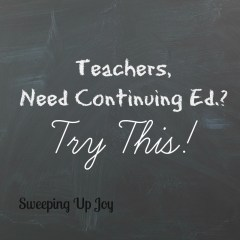 Teachers, Need Continuing Ed?  Try this!