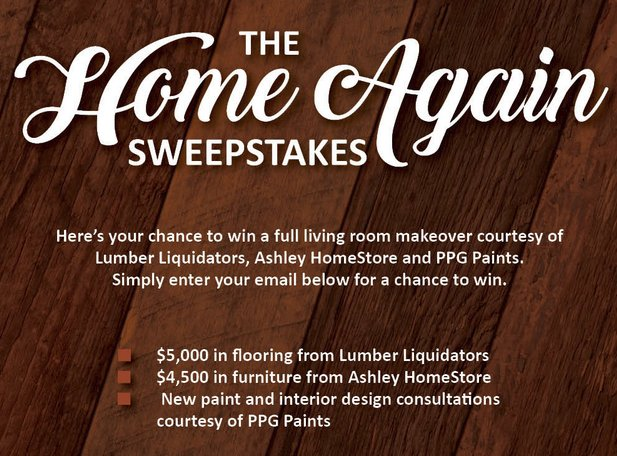 Ashley Furniture HomeStore The Home Again Sweepstakes