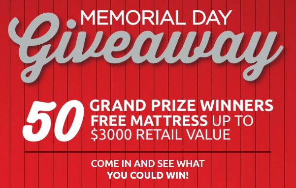 Mattress Firm S Memorial Day Has Been Started In A Near You And Now Could Be Lucky One To Win Free Gift Voucher Worth 3000 Purchase
