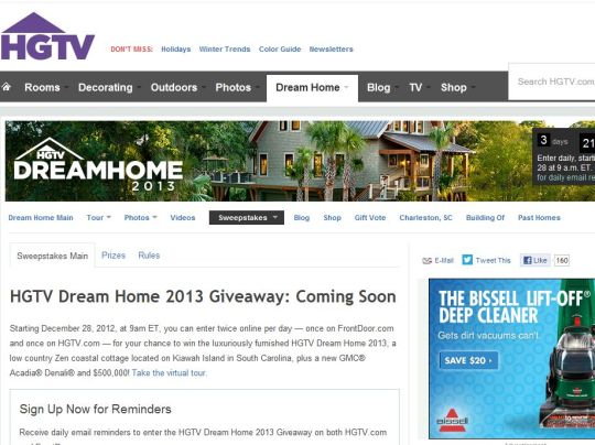 Hgtv Dream Home Sweepstakes Entry Form - Www imagez co