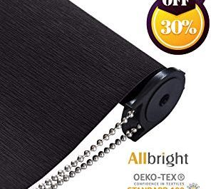ALLBRIGHT Striped Jacquard 100% Blackout Roller Shades Sweepstakes