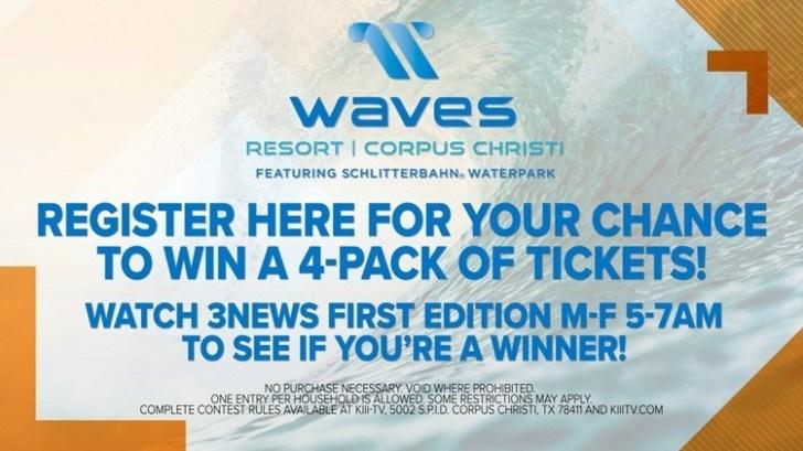 Waves Resort Schlitterbahn Waterpark Corpus Christi Ticket Giveaway